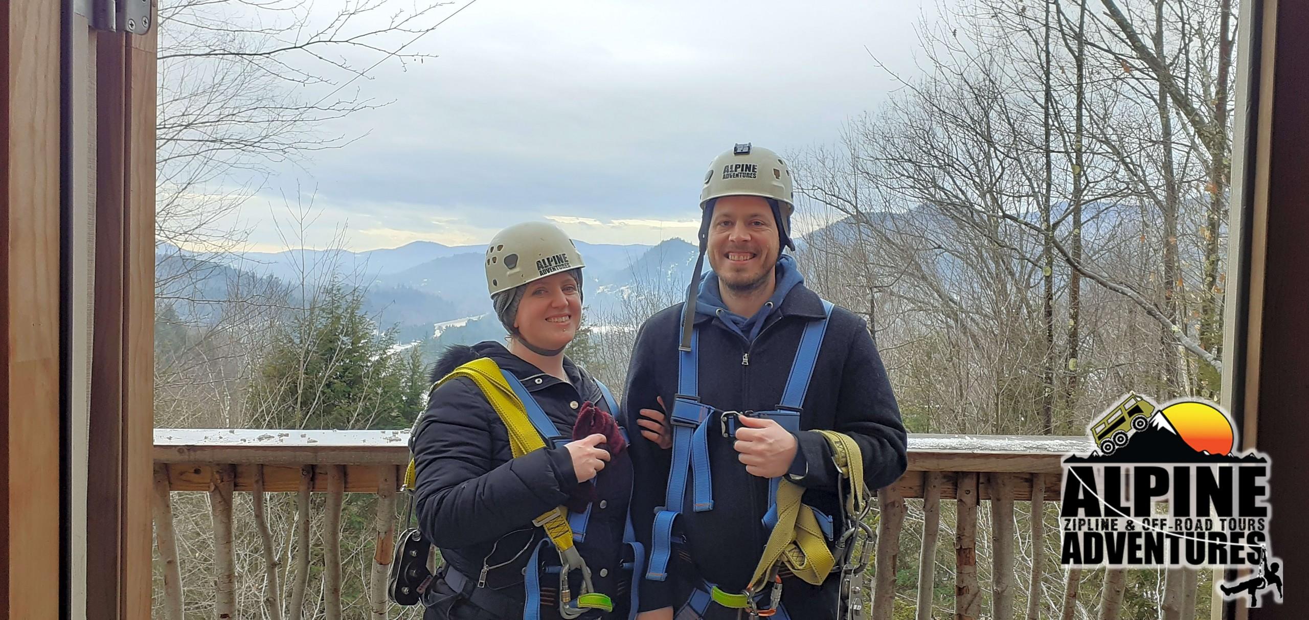 Couple Ziplining Photo