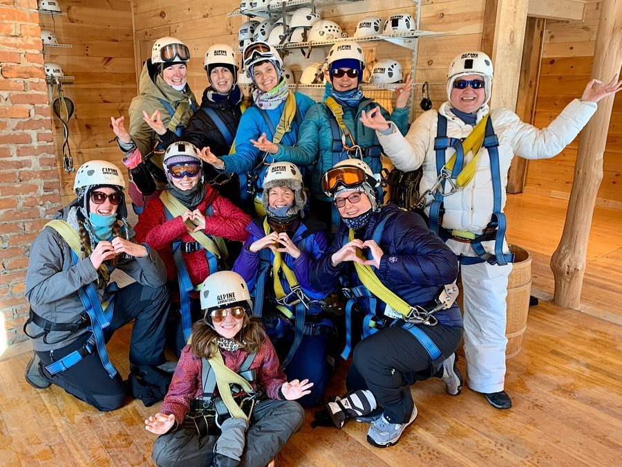 Winter Group Ziplining