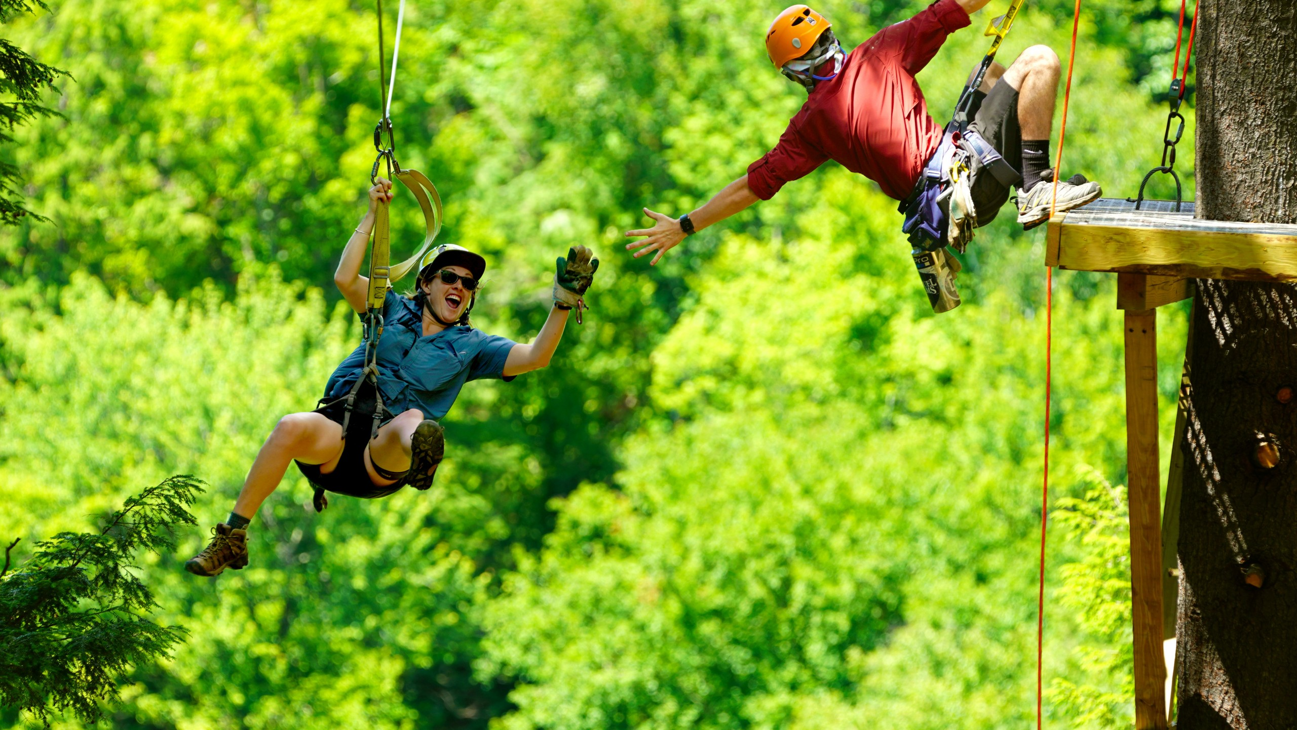 High Fives for Ziplining