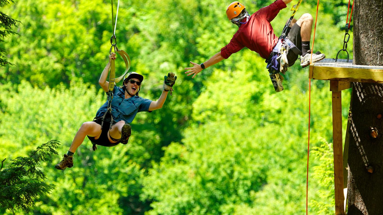 High Fives for Ziplining