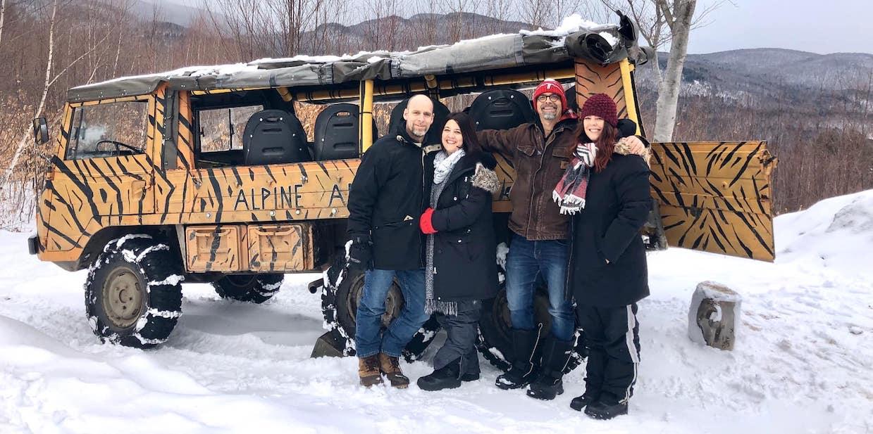 Winter Off-Road Tour on a Pinzgauer