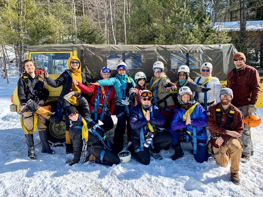 Winter Ziplining Group Photo