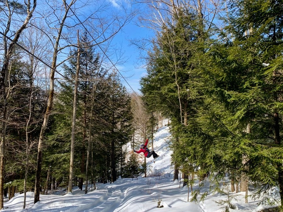 Winter Ziplining Tour