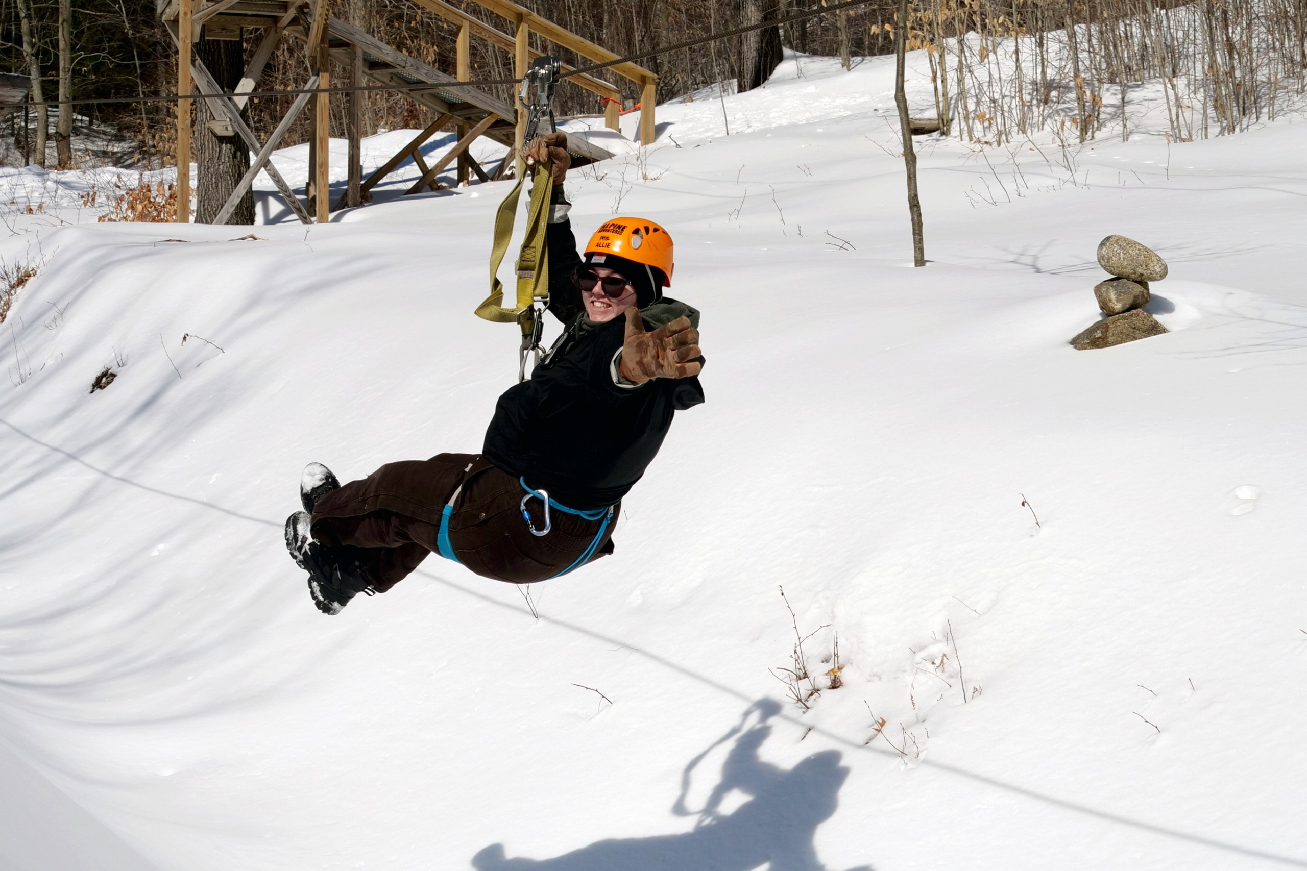 Winter Ziplining